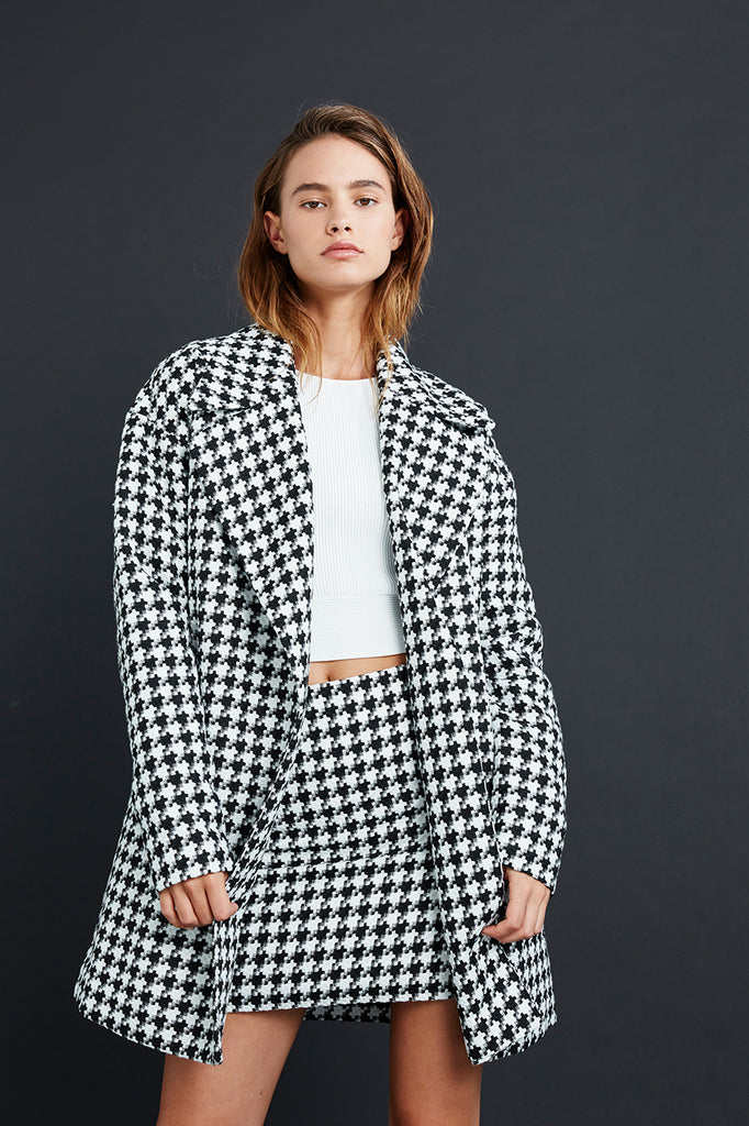 Friend of Audrey Houndstooth Check Skirt