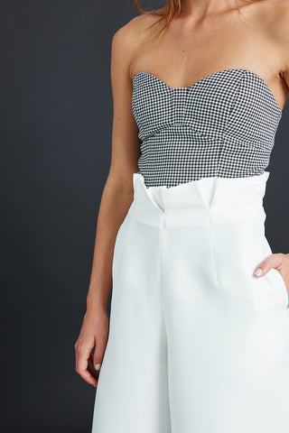 Houndstooth Check Bustier