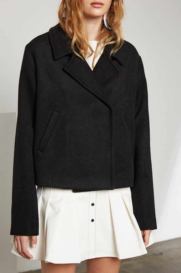 Milano Cropped Wool Coat