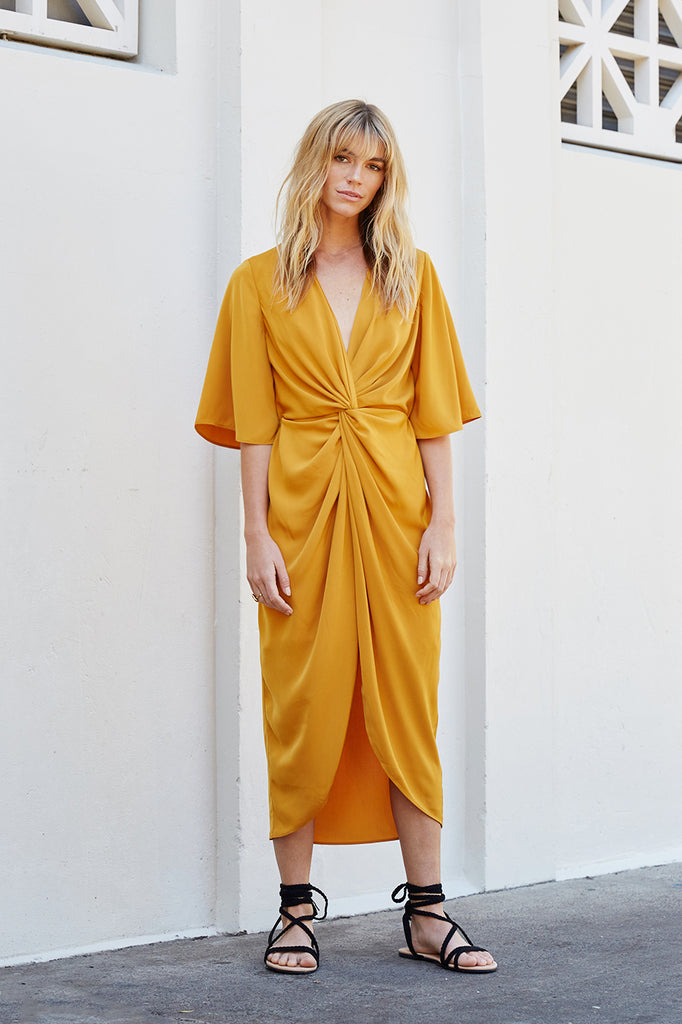 Twist Wrap Dress