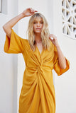 Lucie Twist Wrap Dress
