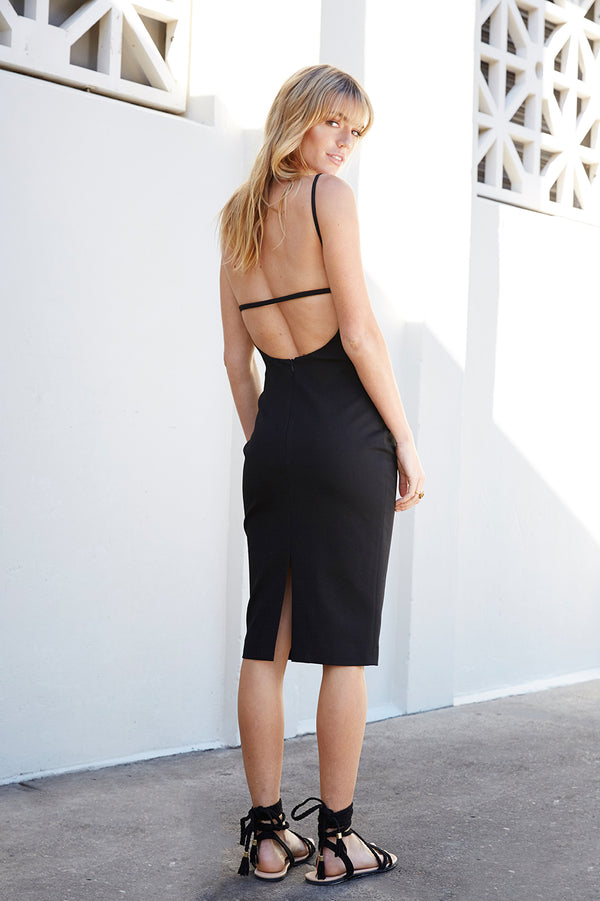 Ellie Open Back Midi Dress