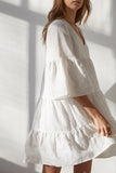 Nico Linen Tiered Dress