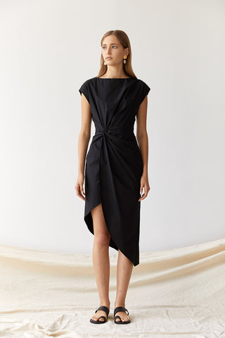 Friend of Audrey Bailey Twist Midi Dress