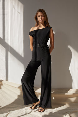 Friend of Audrey Amber One Shoulder Jumpsuit