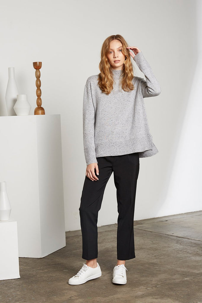 Grey Speckle Cashmere Sweater
