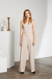 Peta Textured Wide Leg Pants