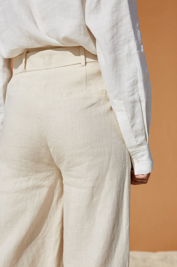 Friend of Audrey Fleur Linen Pants Sand