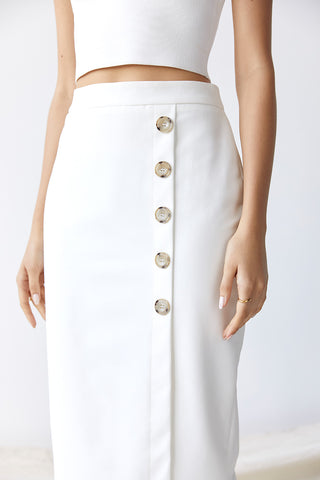 Dylan Buttoned Midi Skirt