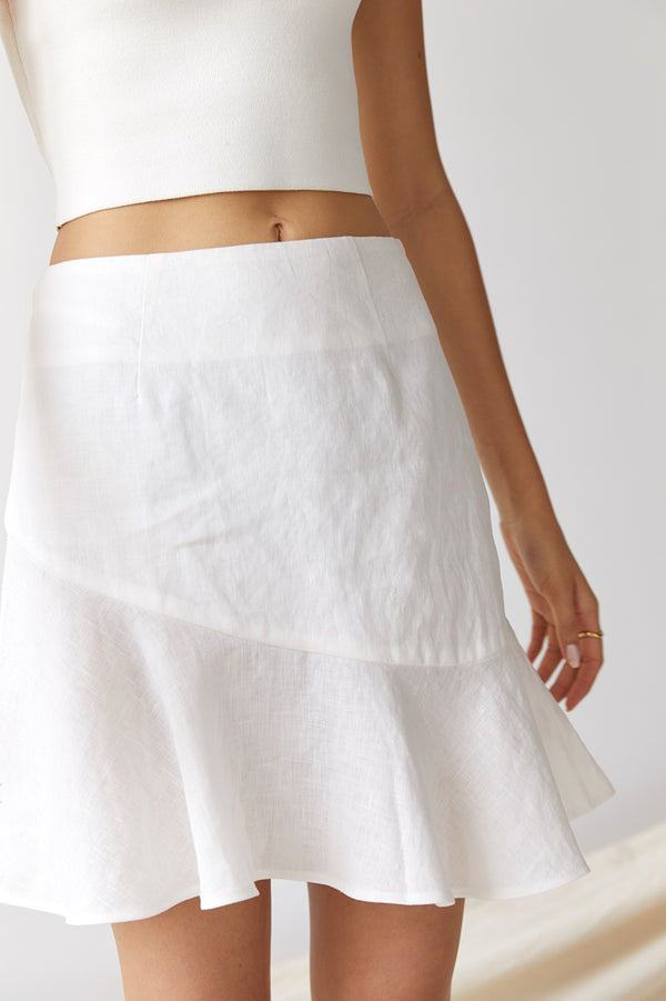 Friend of Audrey Nico Linen Mini Skirt