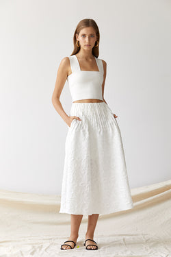 Friend of Audrey Brooke Textured Full Skirt