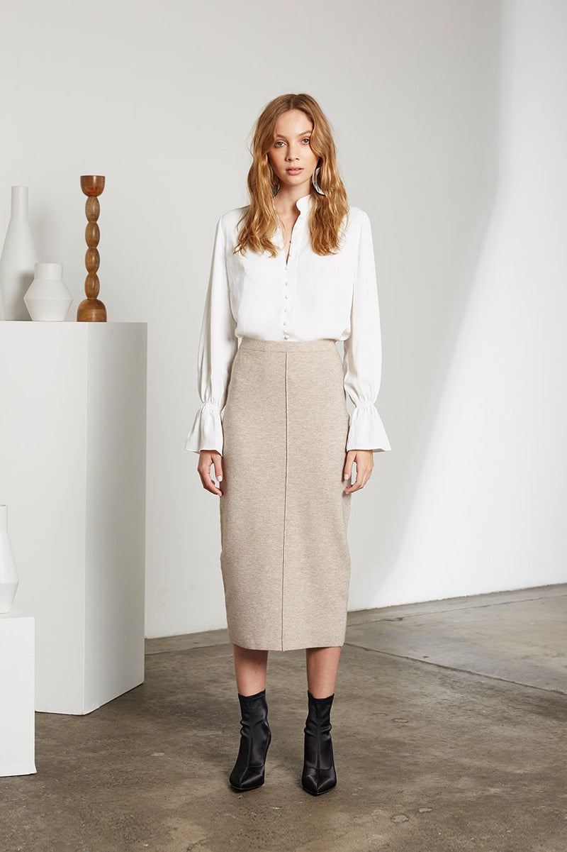 Ella Fine Knit Midi Skirt