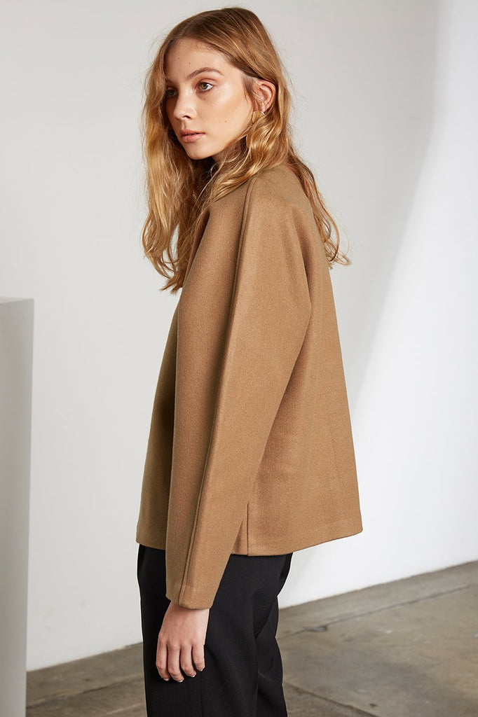 Edie Camel Pullover