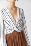 Marc Striped Twist Blouse