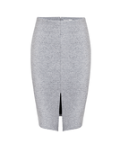 Friend of Audrey Grey Marl Bonded Pencil Skirt