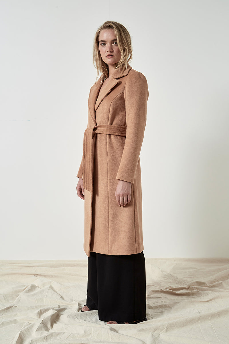 Friend of Audrey Paris Wool Camel Coat