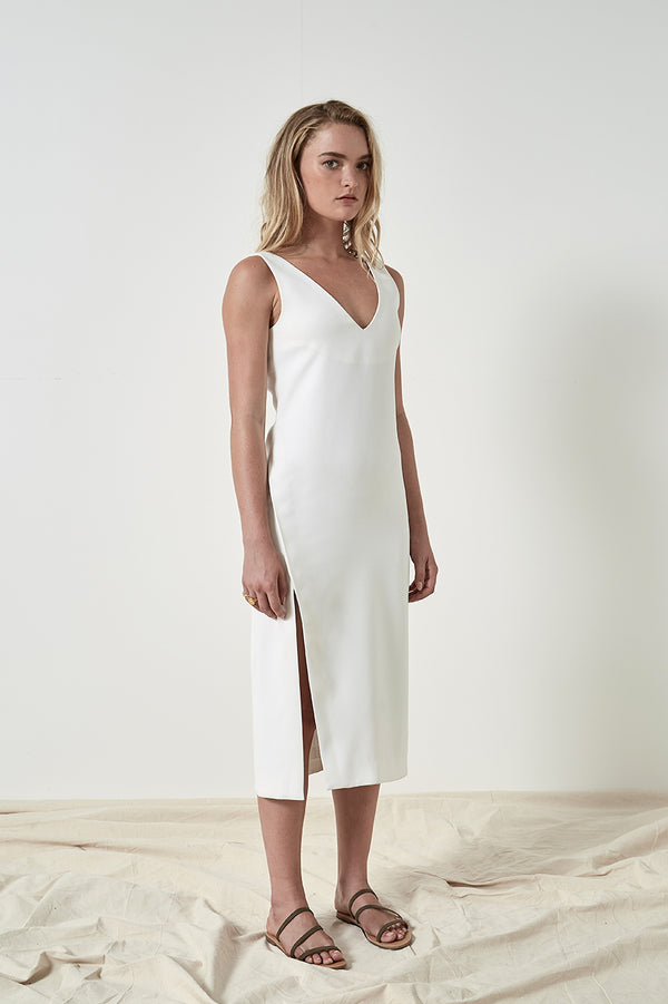 Friend of Audrey Maja Midi Split Dress