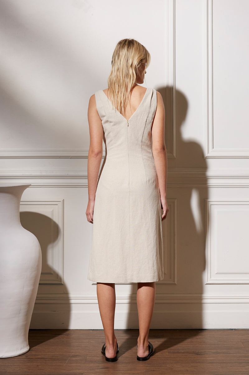 Friend of Audrey Huntington Linen Wrap Dress