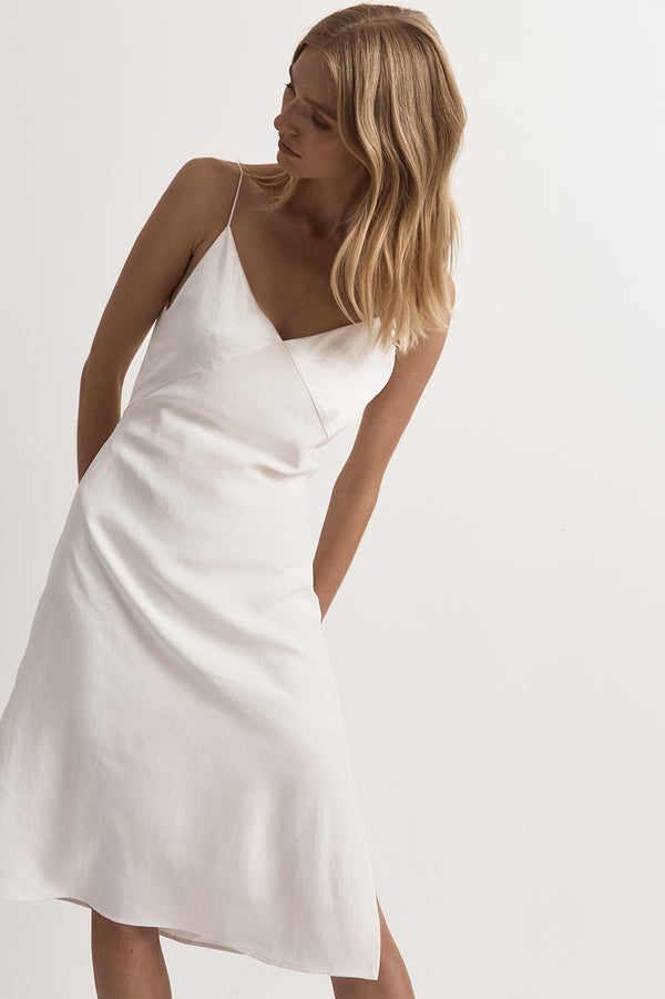 Fayette Contrast Satin Dress