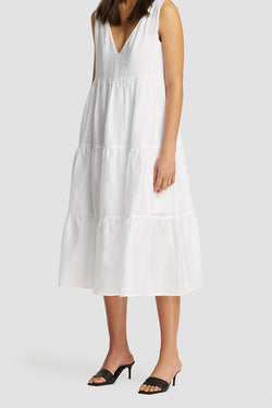 Sundance Tiered Linen Maxi Dress