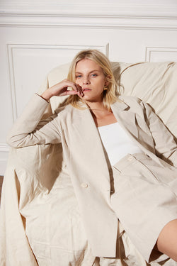 Friend of Audrey Huntington Linen Blazer