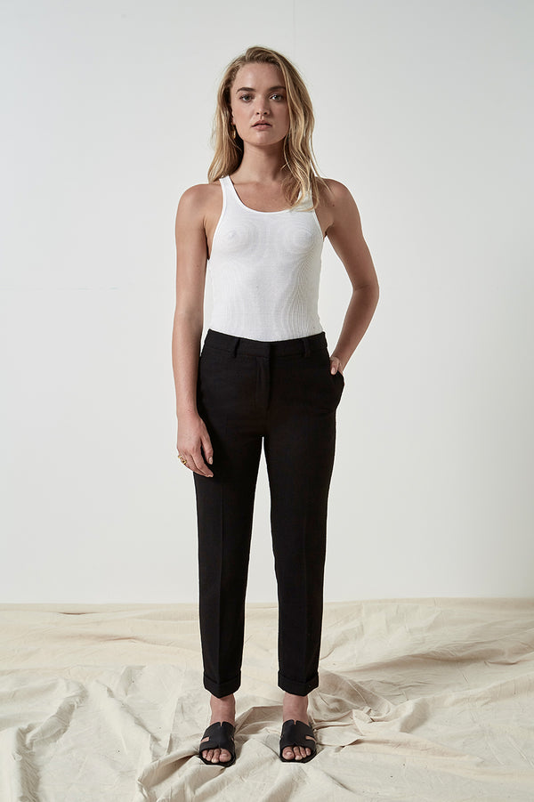 Friend of Audrey Ellen Wool 7/8 Trousers Black