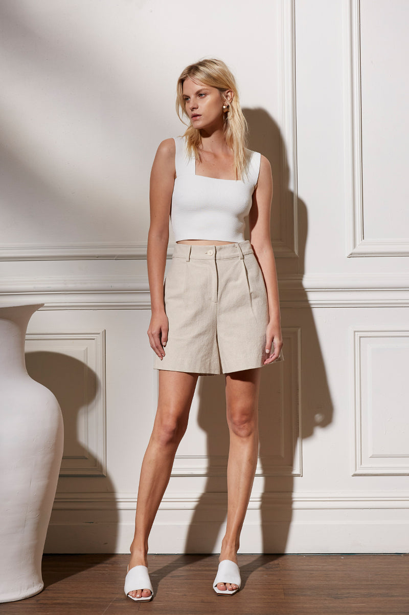 Friend of Audrey Huntington Linen Shorts