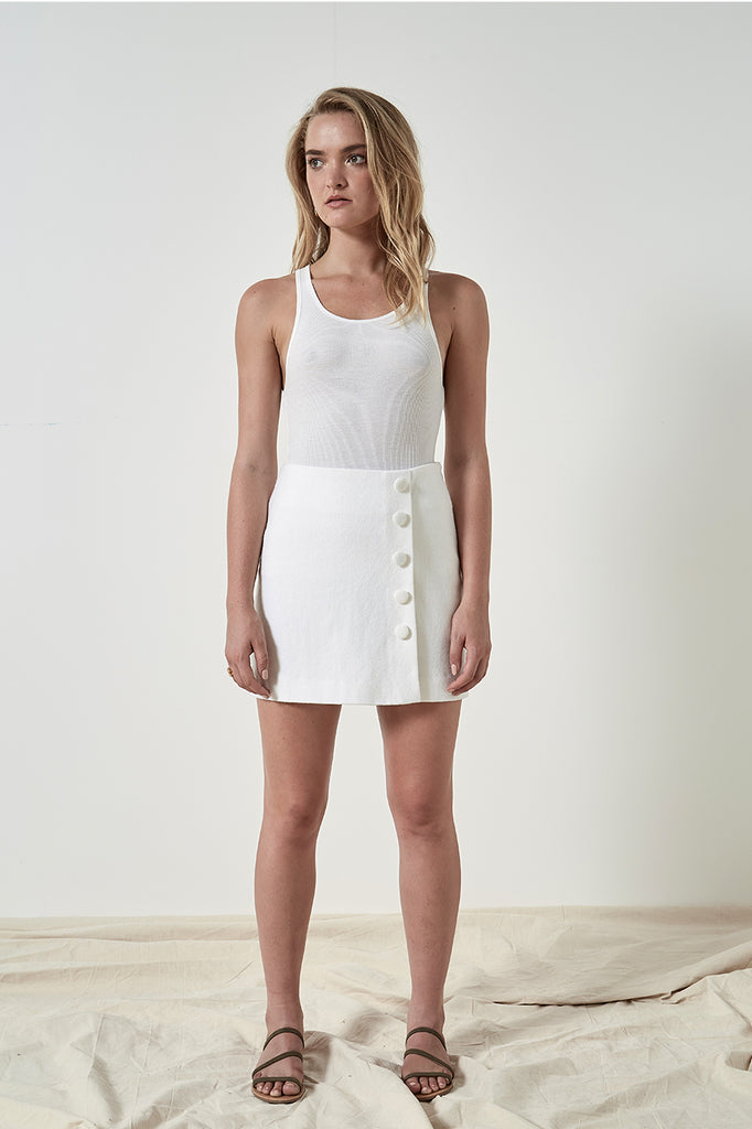 Friend of Audrey Cotton Rib Basic Tank Top