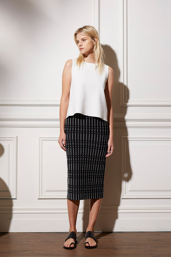 Alderidge Print Crepe Knit Skirt