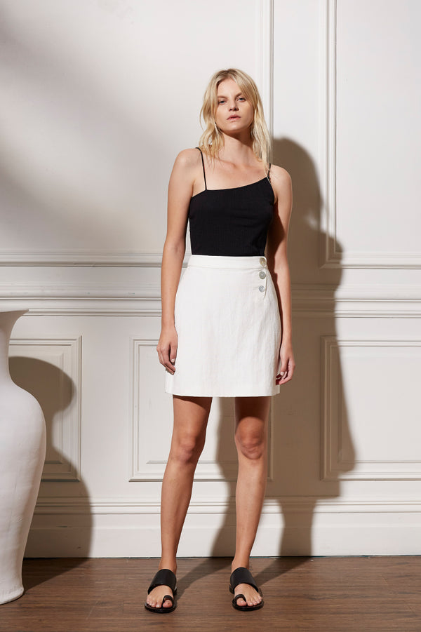 Friend of Audrey Astor Linen Mini Skirt