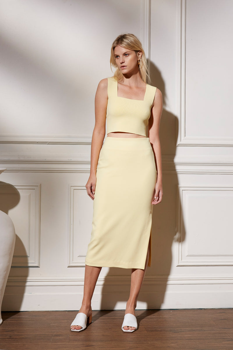 Friend of Audrey Rhodes Longline Pencil Skirt