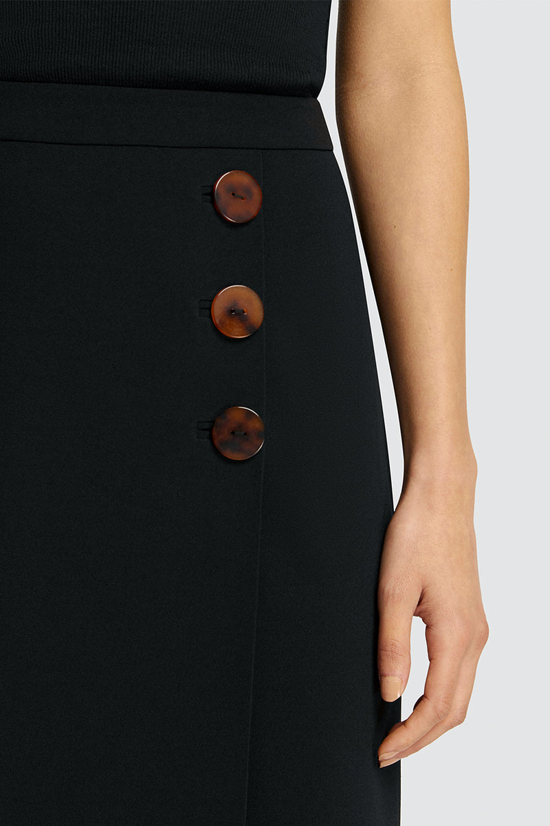 Poppy Resin Buttoned Split Skirt