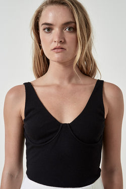 Friend of Audrey Oriana Ribbed Bra Top