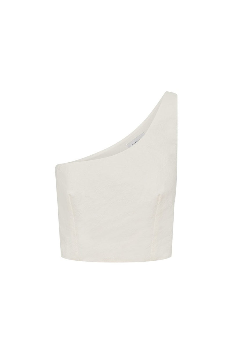 Niccola One Shoulder Linen Top