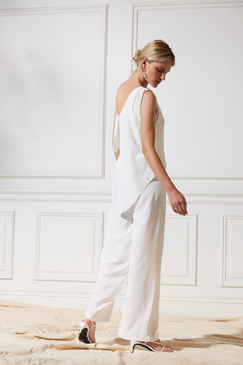 Friend of Audrey Bridesmaid Dress One Love Wide Leg Jumpsuit