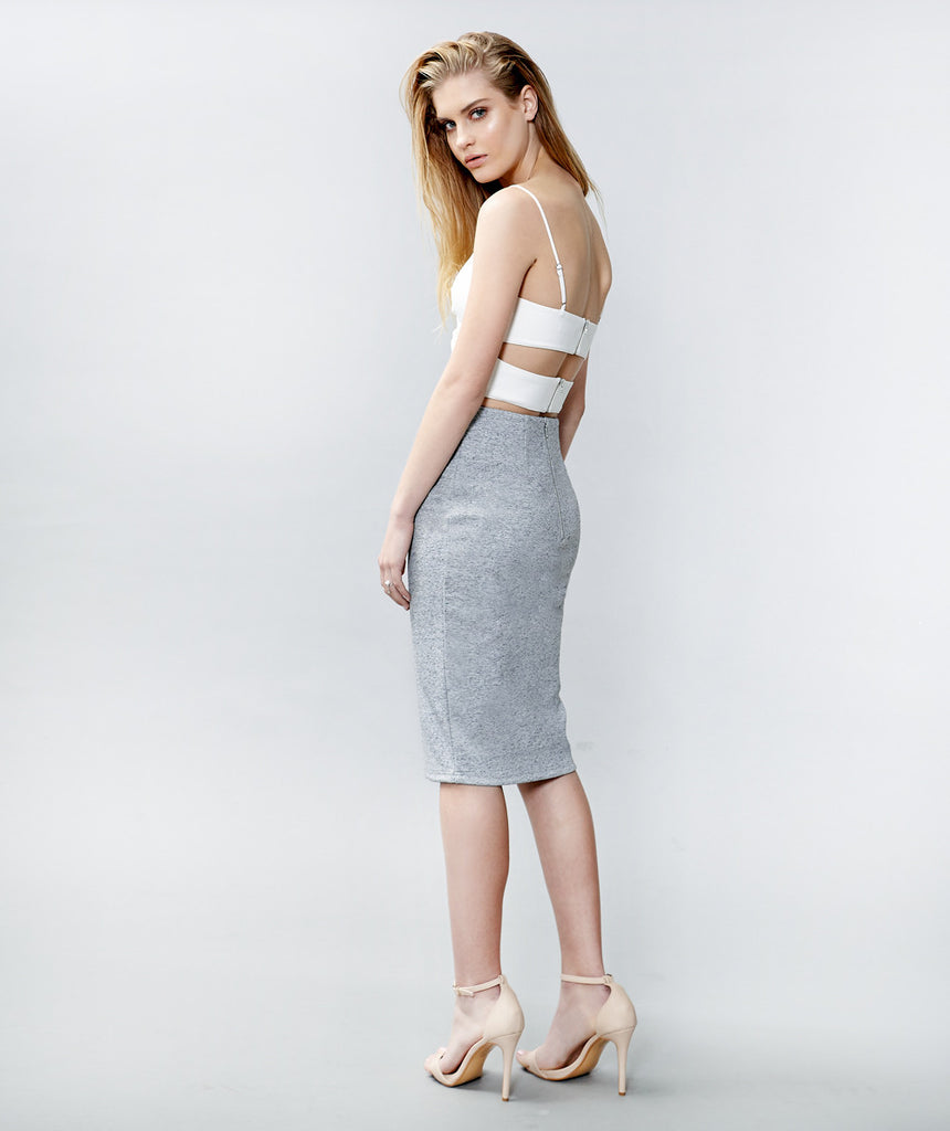 Friend of Audrey Grey marl Skirt