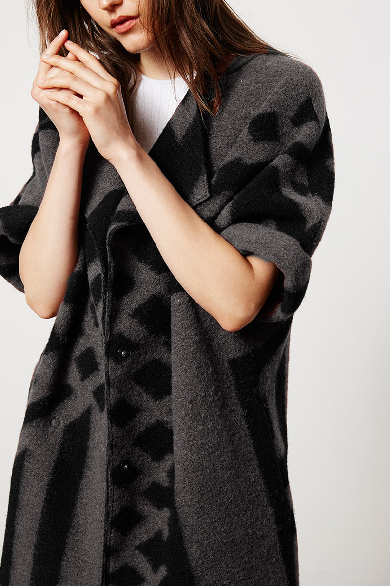 Graphic Oversized Coat