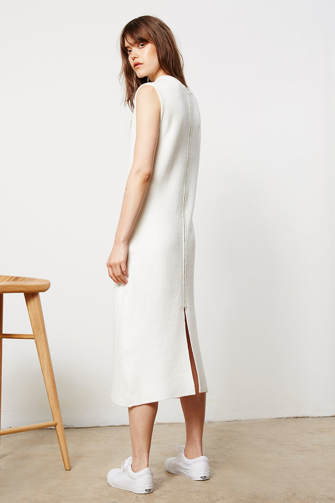Long Zip Knit Dress