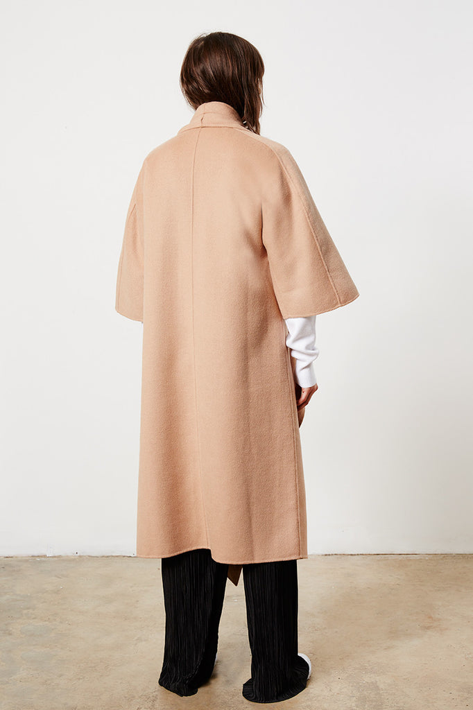 Oversized Camel Wrap Coat