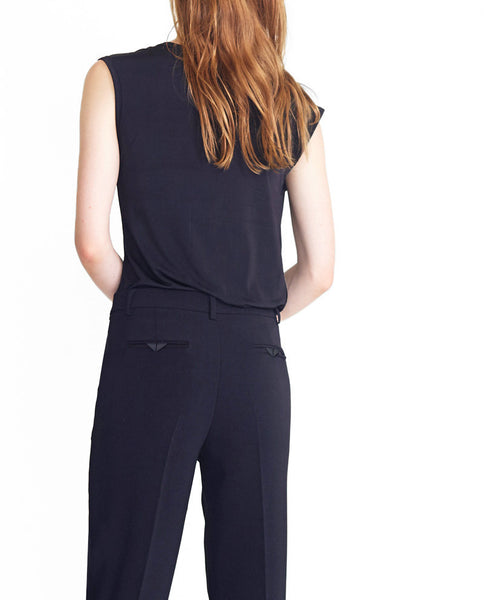Tailored Black 7/8 Trousers
