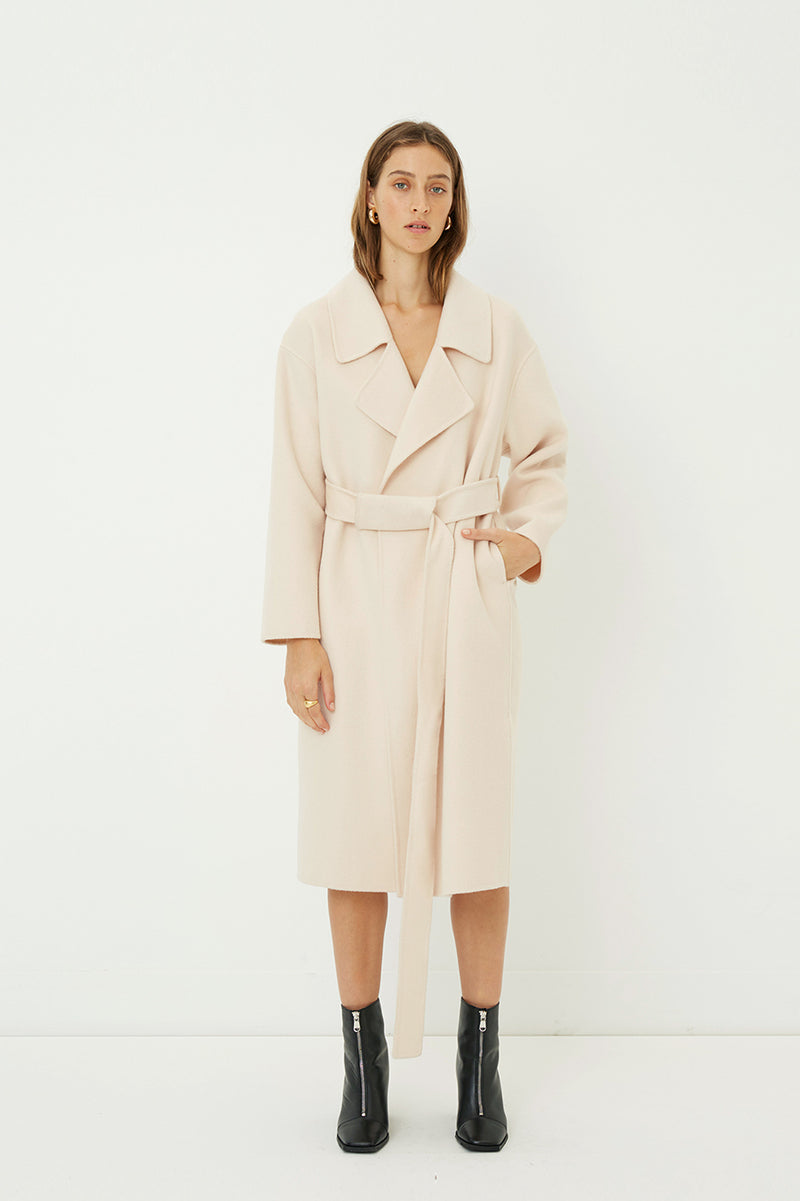 Jil Double Faced Wool Coat (Made-to-Order)