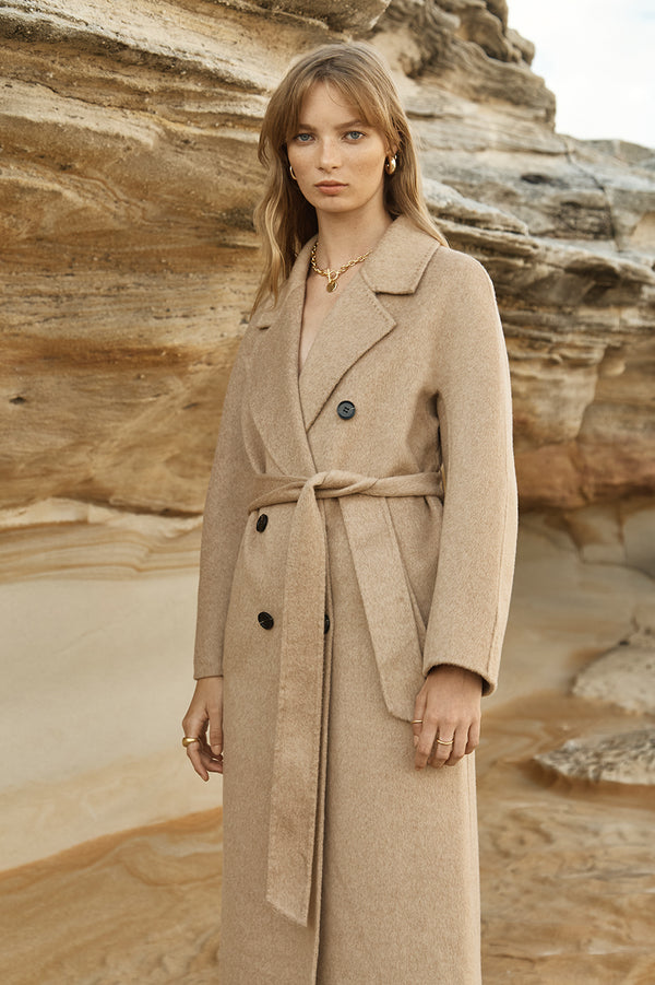 Theodore Alpaca Wool Longline Coat (Made-to-Order)