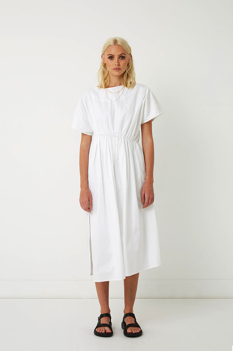 Riley Gathered Midi Dress