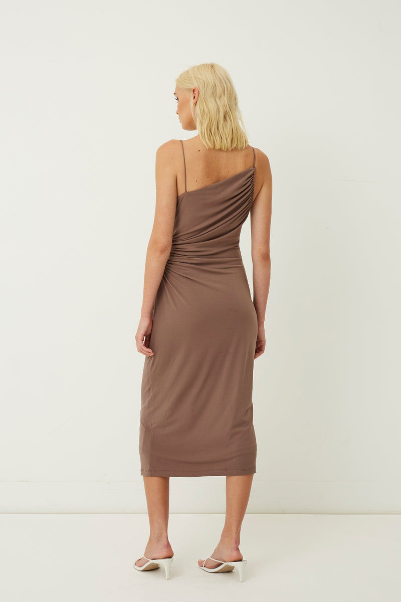 Taylor Ruched Cut Out Midi Dress