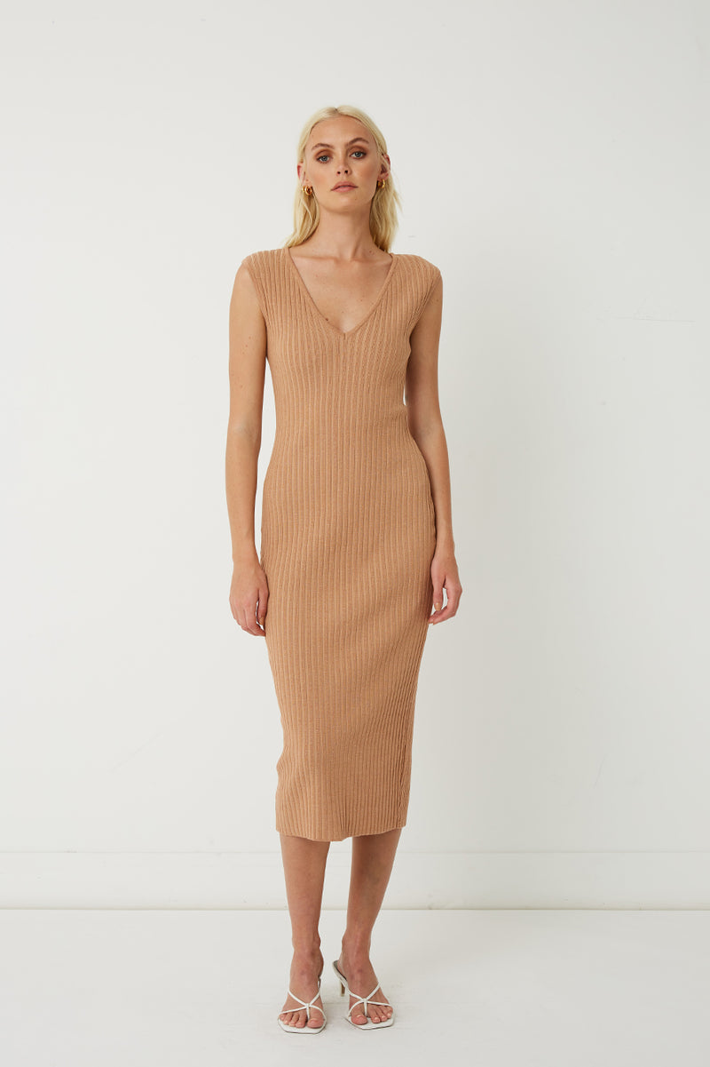 Esme Reversible Ribbed Knit Dress