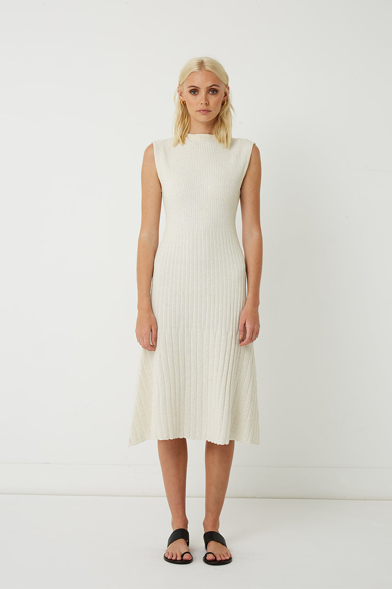 Carolina Ribbed Knit Dress