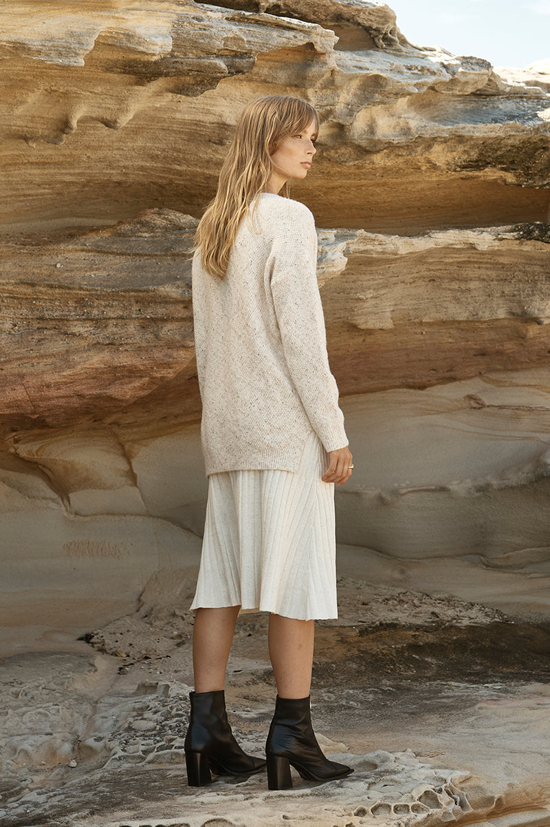 Aerin Speckled V neck Jumper