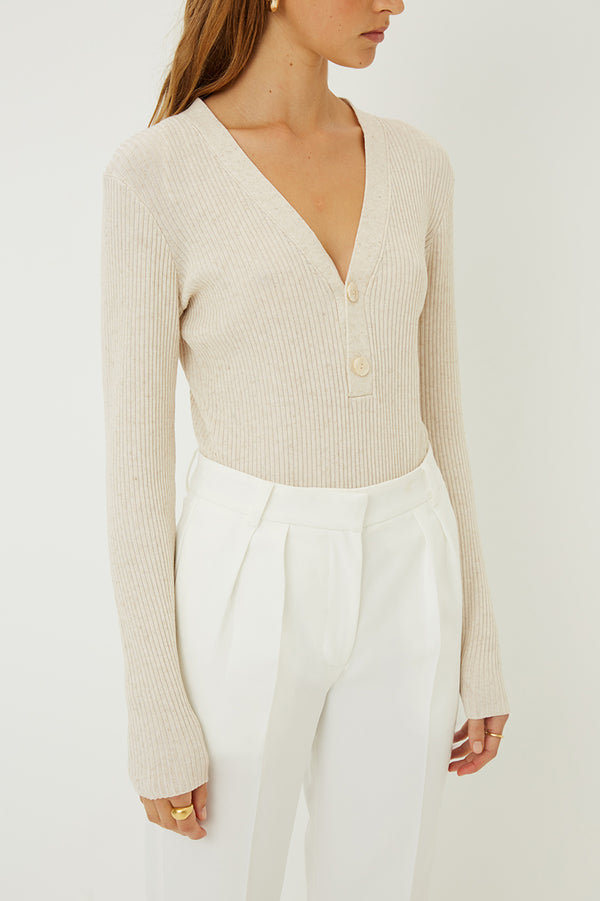 Carolina Buttoned Knit Top