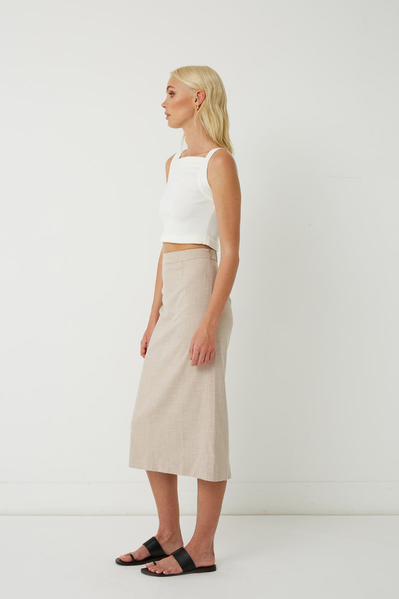 Quillan Cut-Out Midi Skirt