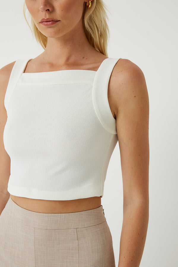 Iris Square Neck Crop Top